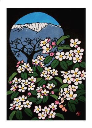 三島木正子の切り絵の絵はがき